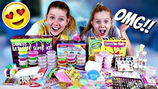 TESTING SLIME KITS FROM AMAZON || ASMR ||SLIME KIT UNBOXING || Taylor and Vanessa