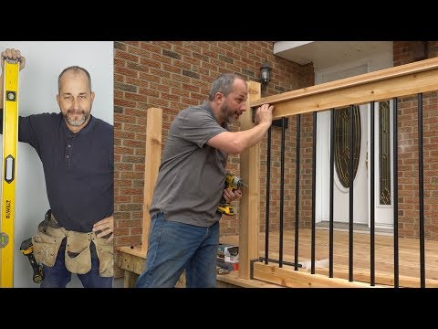 DIY Weekend Deck Project Part 4 Installing Deck Railings
