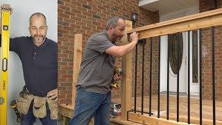 DIY Weekend Deck Project Part 4 Installing Deck Railings