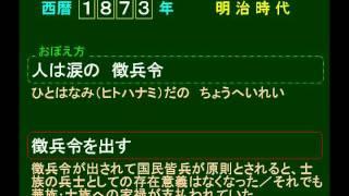 歴史 語呂合わせ日本史11 1873 明治 徴兵令を出す