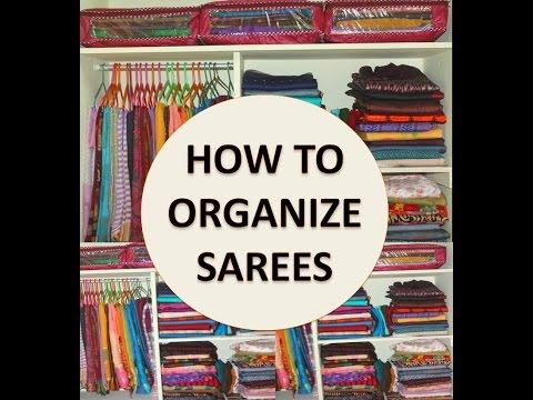 How to Organize Saree Cabinet  Indian Traditional Saree