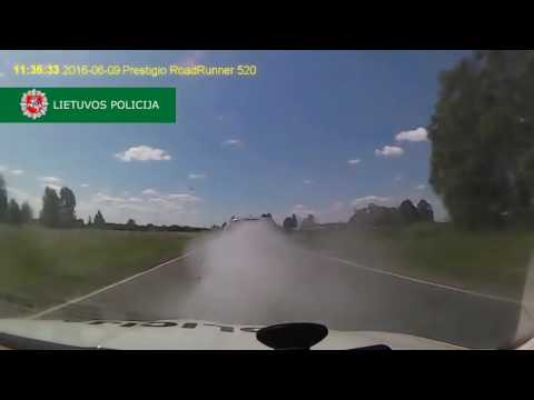 Driver Uses Smokescreen, Throws Spikes, During Dramatic High Speed Chase in Lithuania   YouTube
