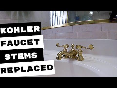 PLUMBING REPAIRS | KOHLER FAUCET STEMS REPLACED
