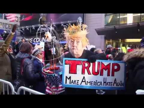 Hundreds protest racism following Trump's 'sh**hole countries' comment