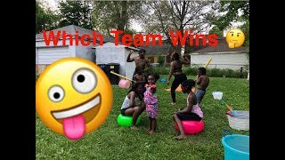SUPER FUN WATER Epic OBSTACLE COURSE WITH SIBLINGS!!!