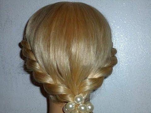 Причёска с плетением для средних, длинных волос.Быстрые причёски в школу, на работу,на каждый день