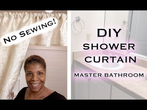 "Easy ""No Sewing"" Shower Curtains for your bathroom 