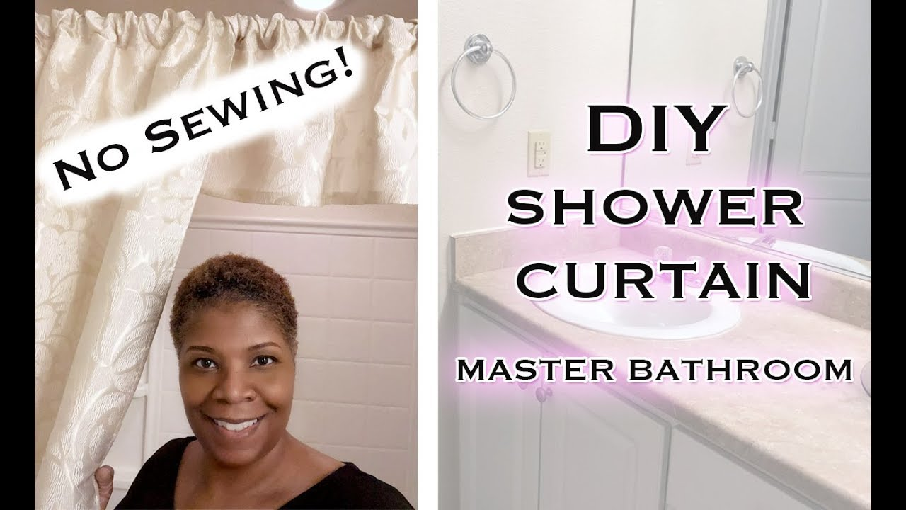 Easy No Sewing Shower Curtains For Your Bathroom