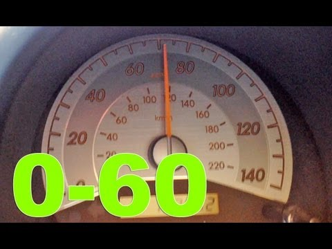 Scion TC 0-60, 0-90 mph acceleration 5 speed manual - YouTube