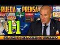 Real Madrid 1-1 Tottenham Rueda de prensa de ZIDANE post Champions (17/10/2017)