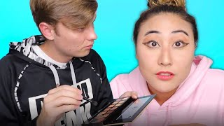 MY BOYFRIEND DOES MY MAKEUP!! (GONE WRONG)
