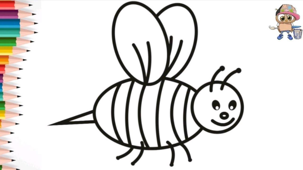 Раскраска для детей ПЧЕЛА/BEE. Мультик-раскраска. Учим ...