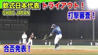 軟式全日本トライアウト!運命の打撃審査…SWBC JAPAN