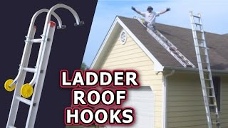 Ladder Roof Hooks UNBOXING & REVIEW Qualcraft Acro Hug Flight Climb Safely Repair Asphalt Shingles