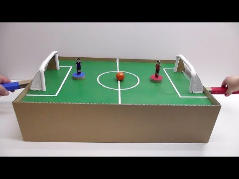 How to make a football with magnets made of cardboard Desktop Game from Cardboard