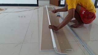Gambar cover Cara cepat memotong papan gypsum.menggunakan pisau kater