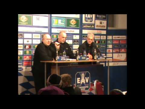 Saison 09/10 -47- EV Landsberg - EC Bad Nauheim Pressekonferenz
