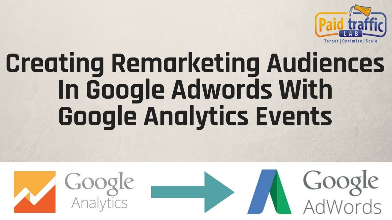 Adwords Remarketing Audiences With Google Analytics Events