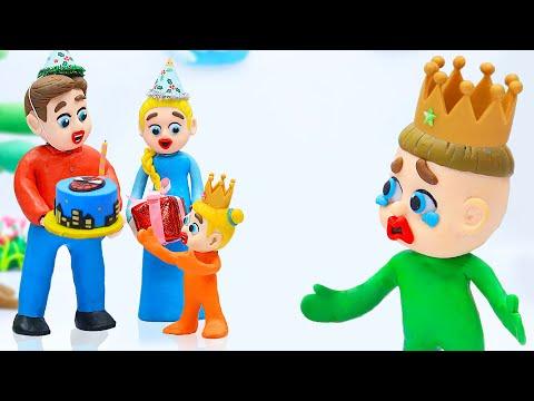 Luka Family And Friends 🎂 Baby Celebrates Happy Birthday 🎂 Handmade Cartoons For Kids