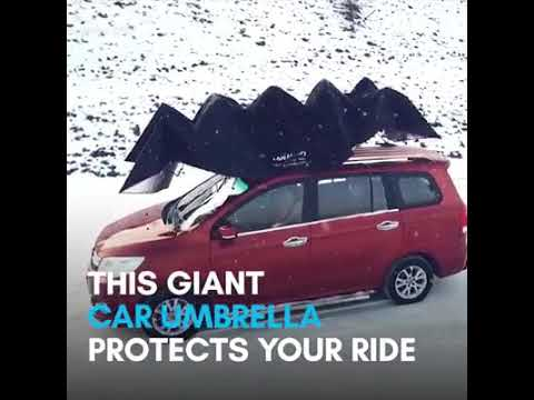 In The Know Innovation This Giant Car Umbrella Protects Your Ride In The Most Extreme Weather