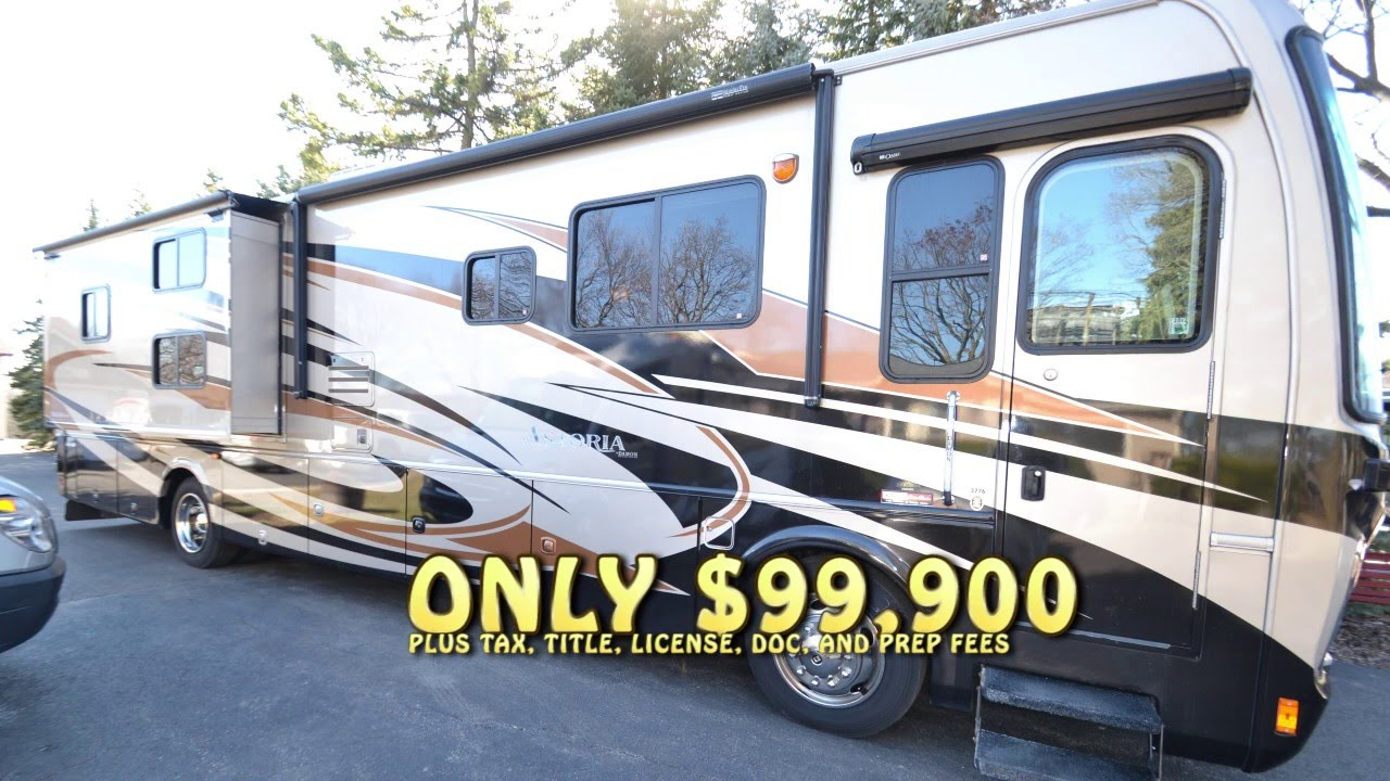 used bunkhouse diesel pusher motorhome for sale illinois youtube. Black Bedroom Furniture Sets. Home Design Ideas