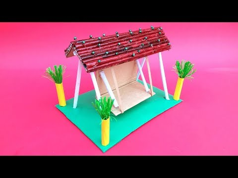 DIY Home Decor l Beautiful Handmade Swing Made Of Paper