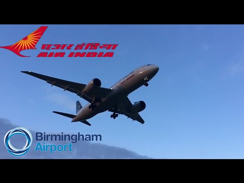 Air India 787 (star alliance) landing at bhx (VT-ANU) without slow motion