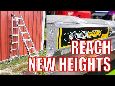 Gorilla Ladders MPX17 Aluminum 18ft Multi-Position Ladder