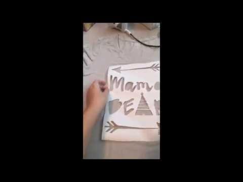 Freezer Paper Stenciling for Cricut explore or Silhouette