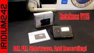 Retekess V115 AM FM SW MP3 Radio