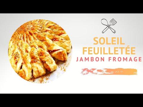 soleil-feuilletee-jambon-fromage-|-recette