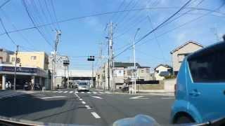 一里塚にて 救急車通過(車載動画)江戸川区Tokyo,Japan.