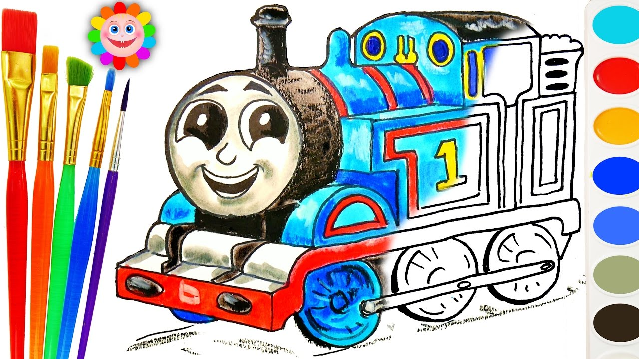 How To Draw Thomas Coloring With Thomas And Friends Train Video For Children