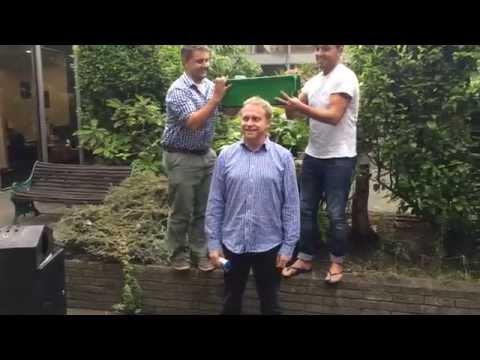 RTÉ 2fm Head Dan Healy takes the ice bucket challenge