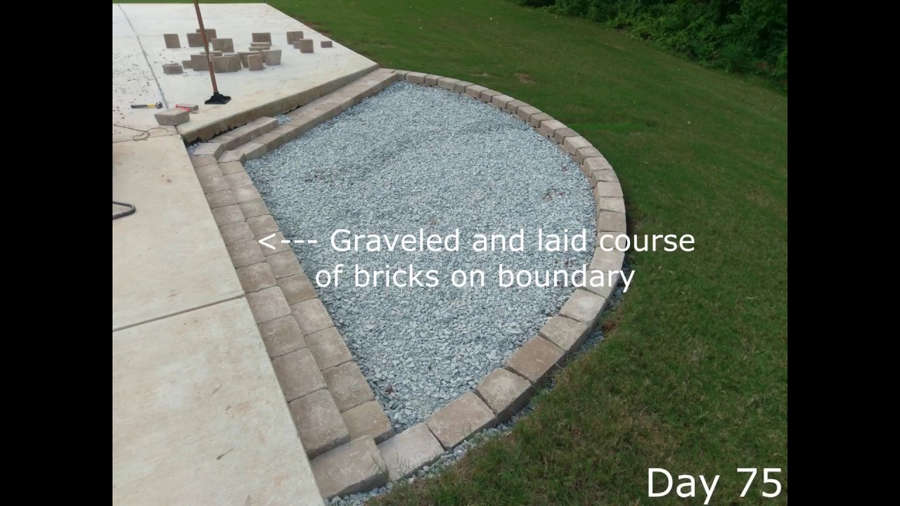 Pea Gravel Fire Pit Patio Expansion Construction Time ...