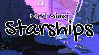 Nicki Minaj - Starships (Clean - Lyrics)