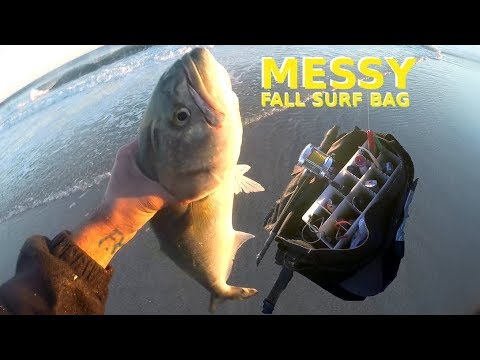 WHAT To Carry??? - THE MESSY EARLY FALL SURF FISHING BAG & LURES - Bluefish / Striper
