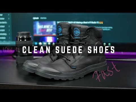 How to Clean / Restore Suede and Nubuck Shoes 2017 4k