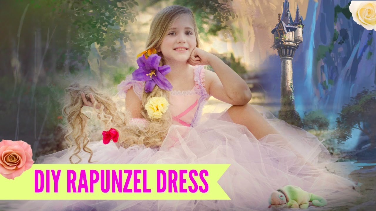 DIY NO SEW Rapunzel Costume TUTU Dress - YouTube