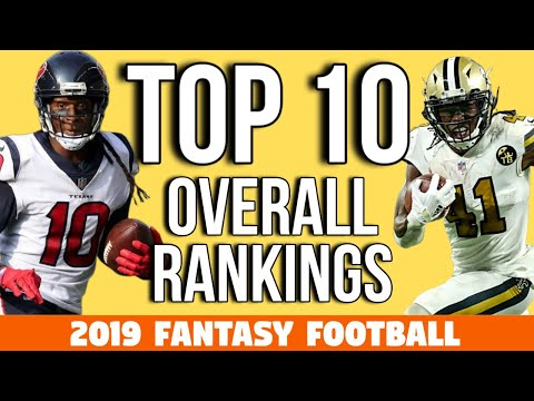 2019 Fantasy Football - Top 10 Rankings Overall