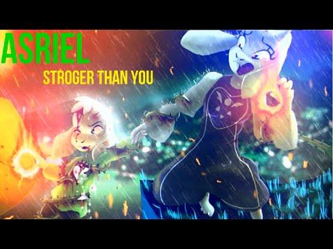 Undertale - Stronger Than You [ver. Asriel] Lyrics + Animations