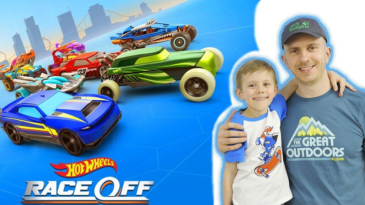 МАШИНКИ: ЛУЧШАЯ Бесплатная гоночная Игра Hot Wheels: RACE OFF. Даник и Папа