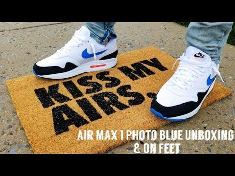 Air Max 1 Photo Blue Unboxing On Feet Ric Flair Funko Pop