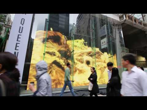 One Minute in Hong Kong - New Digital Art on Queens Road Central