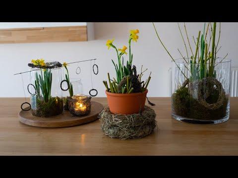 Frühling im Glas, Deko mit Narzissen