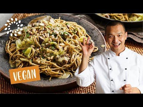 Spaghetti an grüner