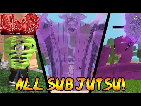[New Exclusive Code] ALL RARE SUB JUTSU SHOWCASE!   Naruto RPG: Beyond
