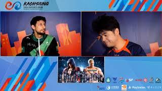 IESF 2018 - Tekken 7 Top 8 - KSA Sora (Jin) Vs AUS Dee-on Grey (Jack-7/Geese)