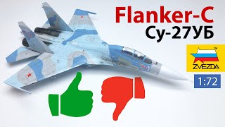 Review Flanker-C scale model by Zvezda. Advantages and disadvantages