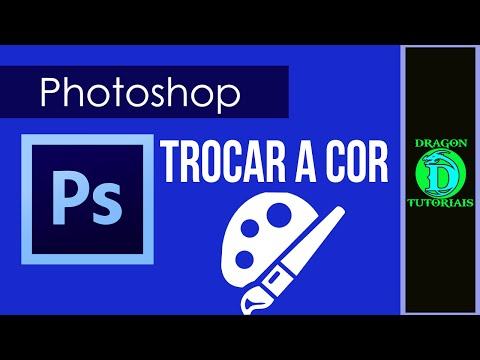 Como trocar a cor da fonte e objetos que possuem uma cor no Photoshop